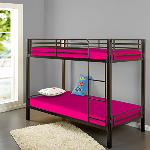 Zinus Sleep Master Memory Foam 5 Inch Bunk Bed / Trundle Bed / Day Bed / Mattress, Twin, Pink
