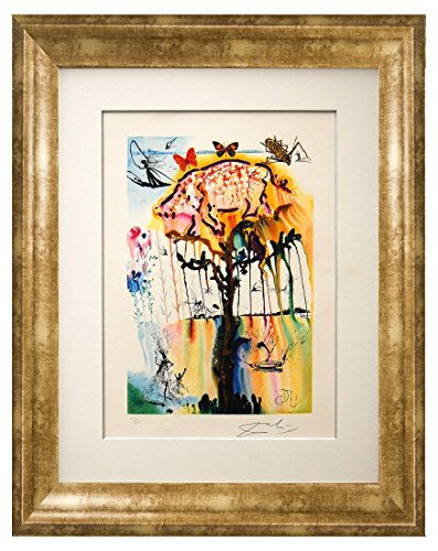 Signed Lithographs Dali (Salvador Dalí 'Pig & Pepper'. Custom framed lithograph on archival fine art cotton-rag paper, from the original signed plate. Limited Edition. Framed size: 31