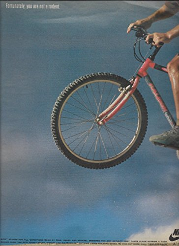 --PRINT AD-- For 1992 Nike ACG Bicycle & Hamster Scene --PRINT AD--