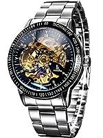 Alienwork IK Automatik Armbanduhr Skelett silber 98226-11