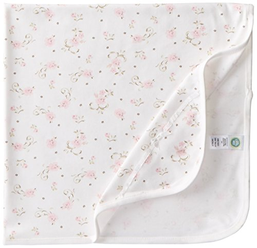 Little Me Baby Girls' Scroll Tag Along Blanket, Ivory Print, One ()
