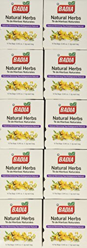 Badia Natural Herb Tea Bag, 10-Count Boxes (Pack of 20) - Badia Tea