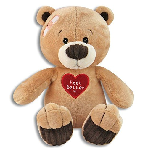- Soft & Cuddly 10 Inch Feel Better Plush Teddy Bear - Get Well Soon - Cheer Up - Feel Better Soon Stuffed Animal