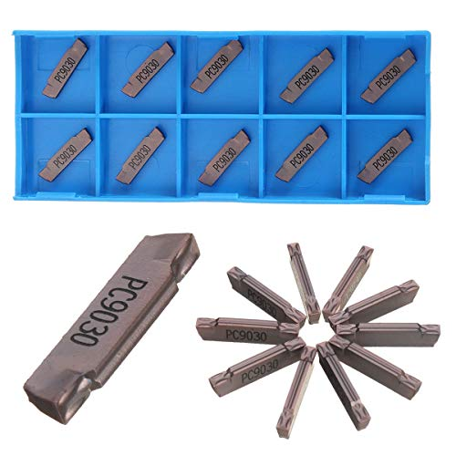 Kul-Kul - 10Pcs MGMN200-G PC9030 2mm Grooving Parting Inserts Cutting Tools Lathe Cutter For Parting and grooving tool Parting off