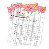 Owl Woodland Baby Shower Invitations Girl 20 Count With Envelopes