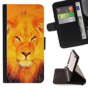 BullDog Case - FOR/LG Nexus 5 D820 D821 / - / JESUS LION /- Monedero de cuero de la PU Llevar cubierta de la caja con el ID Credit Card Slots Flip funda de cuer