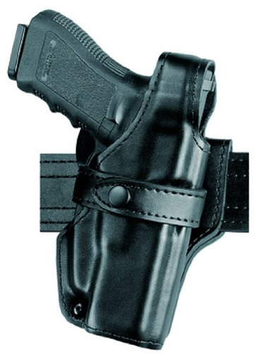 Safariland 070 Level III Retention Duty Holster, Mid-Ride, Black, Basketweave, Glock 17, 22 from Safariland