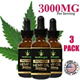 Healthergize Premium 100% Pure Hemp Oil for Extreme Pain Relief, Relaxation,Anxiety & Stress Non GMO Made in USA