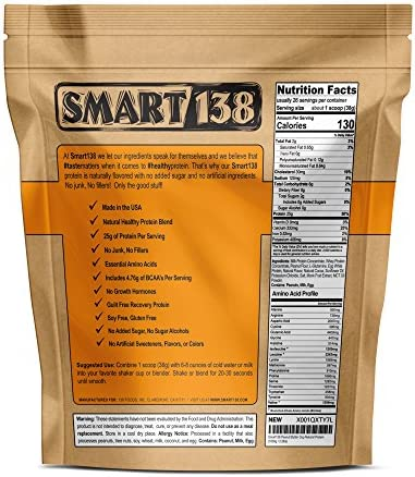 Peanut Butter Chocolate Natural Protein Powder, Gluten-Free, Soy-Free, USA, Keto Low Carb , Natural BCAAs