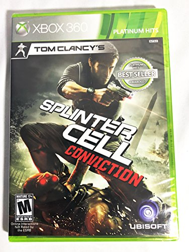 Tom Clancy's Splinter Cell Conviction For Xbox 360 | Electronic Art's| Platinum Hits, Best Seller Awarded| Multi-Player/ Co-op 2/ System Link 2 | English Version | New | Factory Sealed + Xbox Live (Splinter Cell Conviction Xbox)