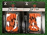 2 Zero Friction ZFTour 3 Prong Orange Golf Tee Packs 2 3/4'' - ZT10009
