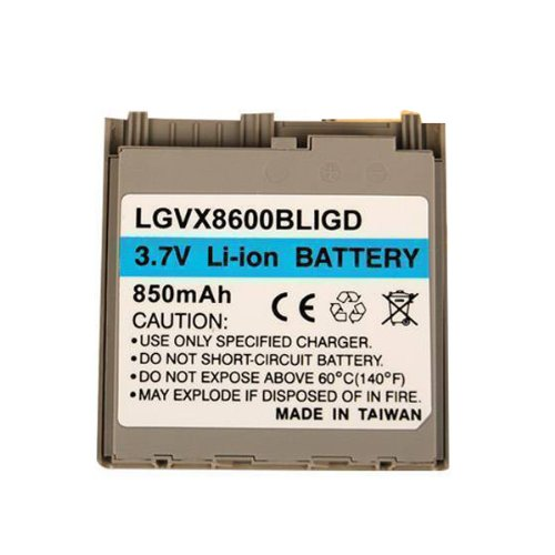 (Technocel Lithium Ion Standard Battery for LG 8600 - Gold)