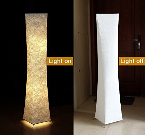 Modern Floor Lamp with Fabric Shades, yenny shop 52 inch Contemporary Design Standing LED Floor Lamp for Living Room,Bedroom, Home, Office by Yenny shop (Image #5)