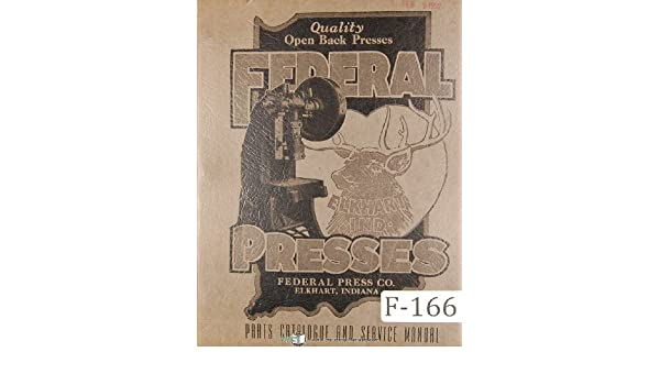 Federal Press Parts No 1-7 Openback Inclinable Punch Press ... on