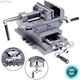 "SKEMiDEX---4"" Machinist Cross slide drill press vise. For exact centering and acurate drilling Cross - slide design provides two-axis precision adjustment for perfect"