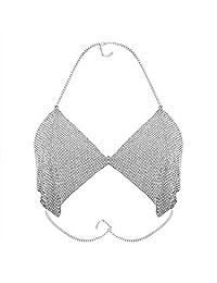 Solememo Women Nightclub Party Body Chain Jewelry Bra Bikini Waist Belly Beach Slave Necklace