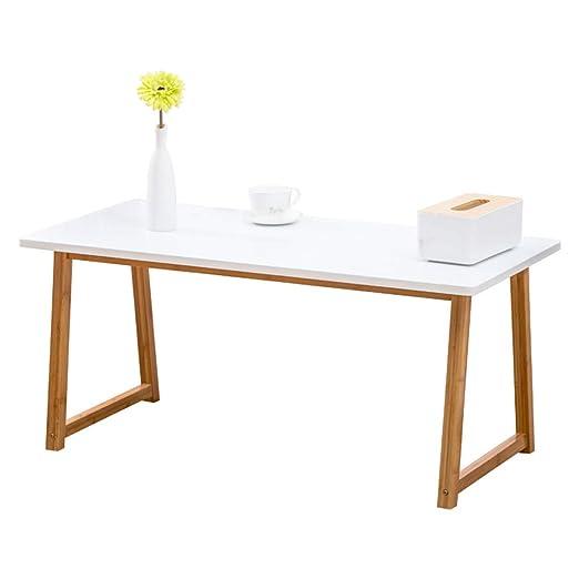 Mesa de Centro de Madera Maciza, Mesa de té Blanco Sala de Estar ...