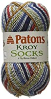 Kroy Socks Yarn-Blue Stiped by Spinrite