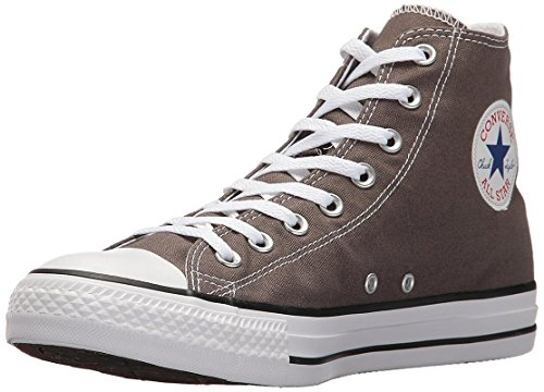 Converse Chuck Taylor All Star Canvas High Top Sneaker, Charcoal, 6.5 US Men/8.5 US Women
