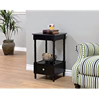 Frenchi Home Furnishing Night Stand/End Table, Black