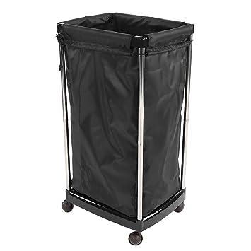 Cubo de almacenamiento Cesta de lavandería Cesta de lavandería Salón Toalla sucia Soporte de cesta de almacenamiento Carrito SPA Equipo profesional para el ...