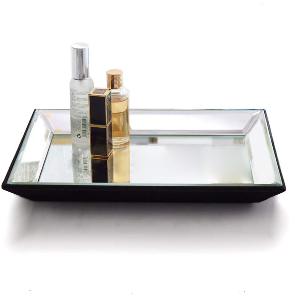 Meetart Rectangle 30x21cm Vanity Organizer Decorative Mirror Tray Vanity Tray Markup Jewelry Tray Silver Tray For Home Decor Amazon Ca Home Kitchen