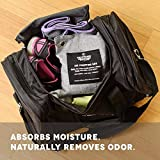 4-Pack 200g Naturally Activated Bamboo Charcoal Air Freshener Deodorizer Odor Neutralizer Bags, Unscented Air Freshener, Car Freshener, Moisture Absorber, 100% Chemical-Free Odor Eliminator