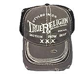 True Religion Men's Triple X Cap, Factory Grey, One Size