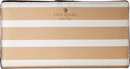 Kate Spade New York Women's Hyde Lane Stripe Stacy Classic Camel/Cream