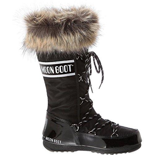 Moon Boot Womens Tecnica Original Monaco Snow Winter Knee High Waterproof Boot - Black - 7 (Snow Boots Winter Moon)