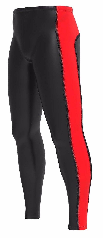 Pantaloni da jogging, pantaloni da Running, Leggings a compressione deporteshera, rosso/nero, S Deportes Hera