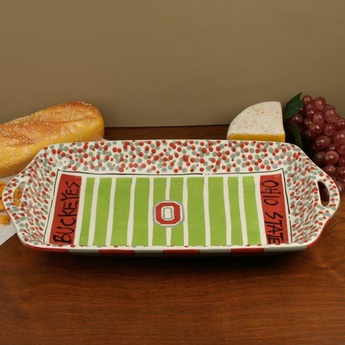 Review Collegiate Ceramics OSU Stadium Platter * Serving Dishes Entertaining