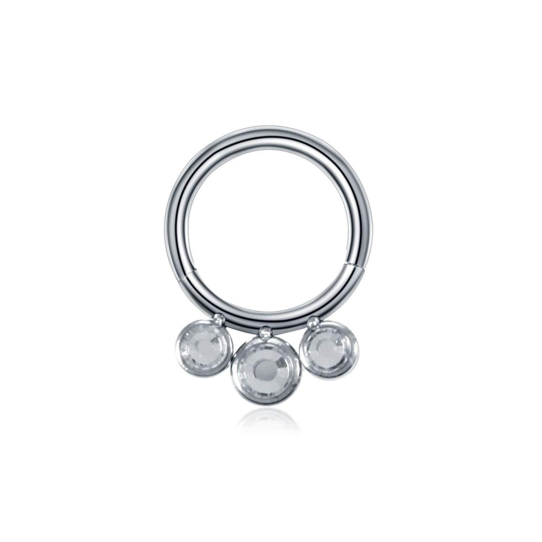 WBeauty Steel Hinged Nose Hoop Septum Cartilage Piercings Captive Hoop Ring