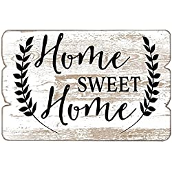 Home Sweet Home Wooden Wall Sign,Shabby Chic Farmhouse Wall Decor,Decorative Hanging Sign for Home Decor