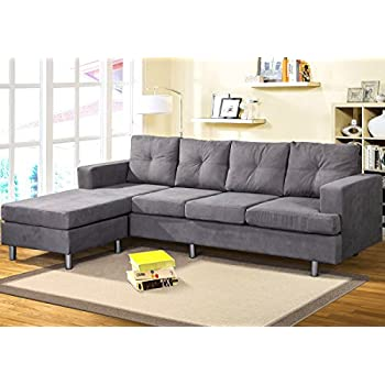 Phenomenal Merax Couch And Sofa Sets For Living Room With Reversible Chaise Lounge L Shape Home Furniture Sectionals Left Or Right Hand Chaise Modern 4 Seat Pdpeps Interior Chair Design Pdpepsorg