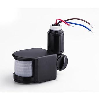 LED de seguridad Rondaful Sensor de movimiento infrarrojo para personas con problemas de lámpara de pared