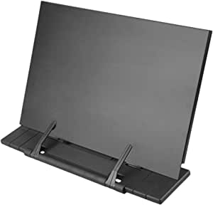 Hanghs Desktop Document Book Holder Laptop/iPad/Cookbook/Music/Document Stand Holder Reading Stand with 7 Adjustable Positions (Black)