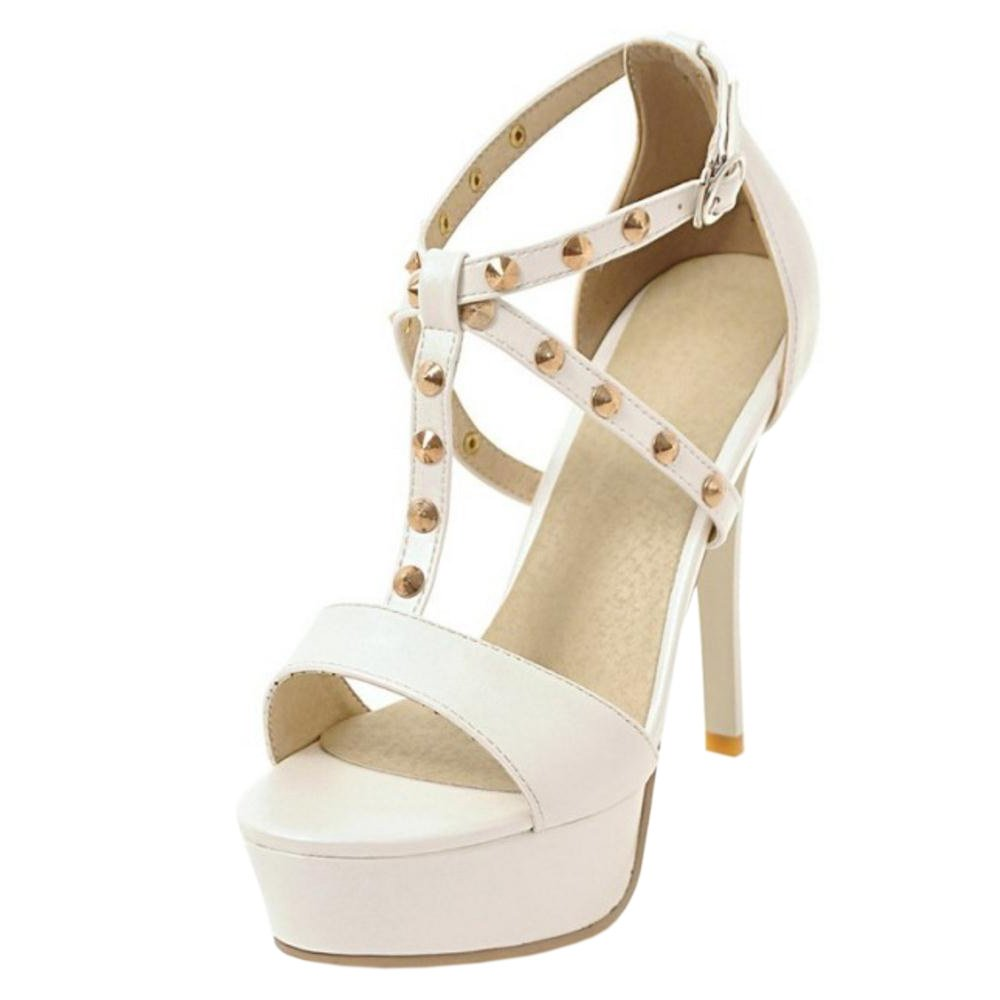 AicciAizzi Women Fashion Stiletto Sandals Platform 26.5 B07BDCG77B 10 US = 26.5 Platform CM|White 0f7323