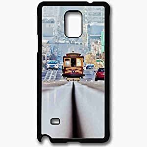Unique Design Fashion Protective Back Cover For Samsung Galaxy Note 4 Case Lombard Street San Francisco Travel Black