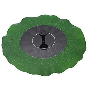 Egomall Wasserpumpe Brunnen Blatt Solar Schwimmender Lotus Teich