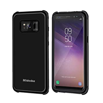 Mishcdea Funda Galaxy S8 Plus Impermeable Carcasa Phone Cases Cover Impermeable IP68 para Galaxy S8 Plus con Protector de Pantalla Incorporado
