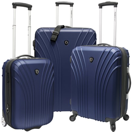 Traveler's Choice Cape Verde Lightweight Expandable Spinner Luggage Set, Navy (19