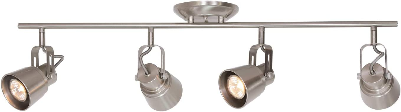 MELUCEE 4 Lights Ceiling Track Lighting Kit, Brushed Nickel Ceiling  Spotlights Kitchen Track Lighting Fixtures Ceiling Wall Track Light Picture  ...