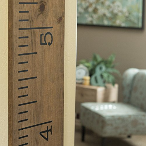 Vinyl Growth Chart | Single Transfer for EASY Application | Kids DIY Height Wall Ruler Kit | Large Measuring Tape Sticker Number Decal Wood Measure Chart Wooden Board Children Decor Growing Baby Room by Decals for the Wall (Image #4)