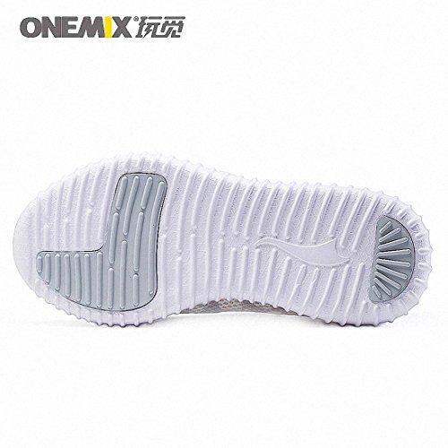 Run One Outdoor Women's OneMix Lightweight Sneaker Running Shoes Walking Roshe Brethable Sport Silver Mesh White 8qwFRHxwZ