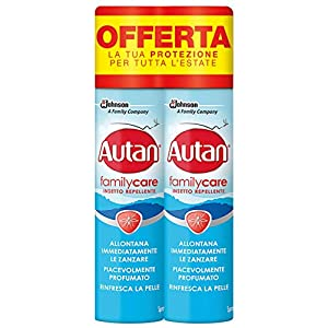 Autan Family Care Spray Bipacco, Insetto Repellente e Antizanzare Tigre e Comuni, 2 Confezioni da 100 ml 3 spesavip
