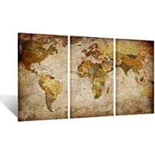 Amazon kreative arts kreative arts large size vintage world map giclee canvas prints artwork pictures modern stretched and framed paintings on canvas wall art for living room gumiabroncs Gallery