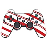 Christmas Red Candy Cane PS3 Dual Shock wireless controller Vinyl Decal Sticker Skin by Moonlight Printing