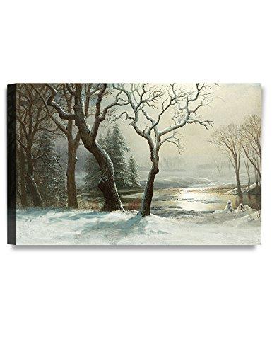 (DECORARTS -Winter in Yosemite, Albert Bierstadt Classic Art Reproductions. Giclee Prints Wall Art for Home Decor 30x20 x1.5)