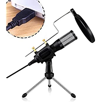 usb microphone fifine metal condenser recording microphone for laptop mac or windows. Black Bedroom Furniture Sets. Home Design Ideas